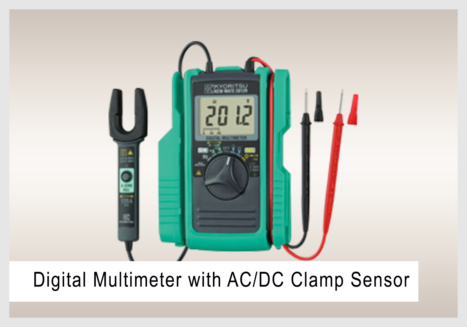 Digital Multimeter with AC/DC Clamp Sensor