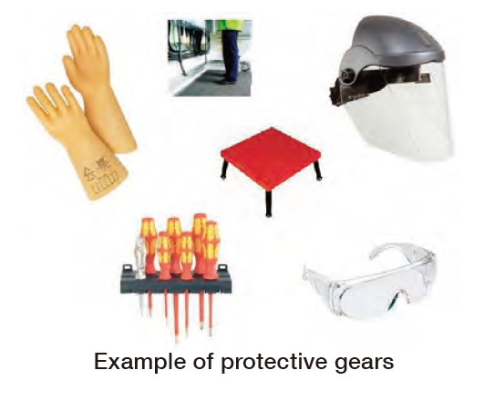 Example of protective gears
